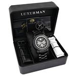 Escalade Oversized Mens Real Black Diamond Watch by Luxurman 3ct Chronograph 4