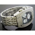 4.00Ct Diamond Black Face Stainless Steel Band W-2