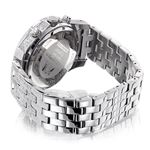 Luxurman Wrist Watches Mens Diamond Watch 1.25ct Polished Silver Stainless Steel 2