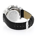 Large Mens Diamond Watch with Black Leat 90084 2