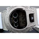 Ice Plus Mens Diamond Shock Style Watch White Case White Band 2