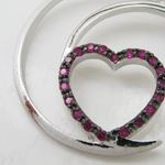Half moon heart pink stone pendant SB66 37mm tall and 34mm wide 2