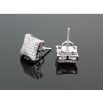 Sterling Silver Unisex Fashion Hand Set Stud Earrings ME0217c 2
