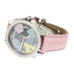 Jacob Co Pink Band 5Time Zone Mother Of Pearl Di-2