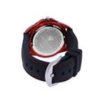 Unisex Black Dial Red/Black/Silver Tone Case 0.2-2