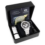 Genuine Diamond Watches For Men: 2Ct LUXURMAN Li-4