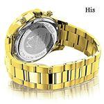 His And Hers Watches: Yellow Gold Plated Diamond-2