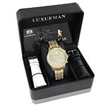Iced Out Mens Diamond Watch 3Ct Yellow Gold Plat-4