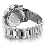 Luxurman Mens Real Diamond Watch 0.2ct White Gold Plated White MOP Liberty 2