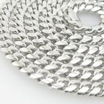 Mens .925 Italian Sterling Silver Cuban Link Chain Length - 30 inches Width - 6mm 2