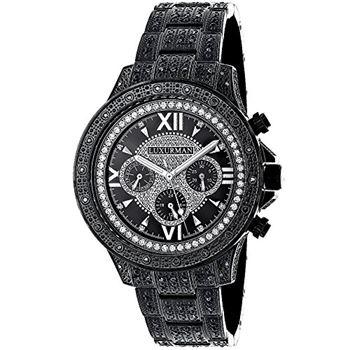 Mens Phantom Black Genuine Diamond Luxurman Watch 1.25ct Iced Out Large  Bezel dd550d26b0