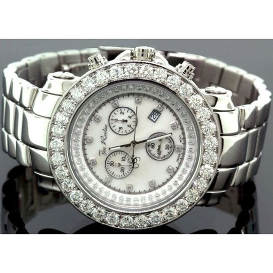 Joe Rodeo 8ct Jumbo Bezel Diamond Watch 4