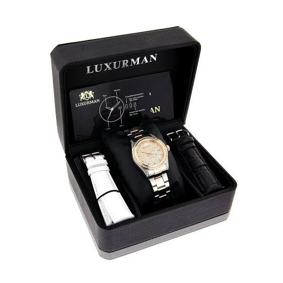 Luxurman Tribeca Two Tone Rose Gold Plat 91053 4