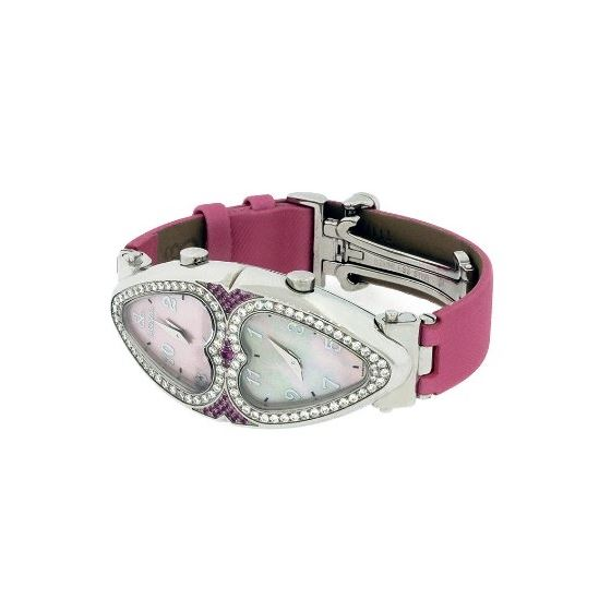 Jacob Co. Ladies Swiss Pink Heart To Heart Two T-2