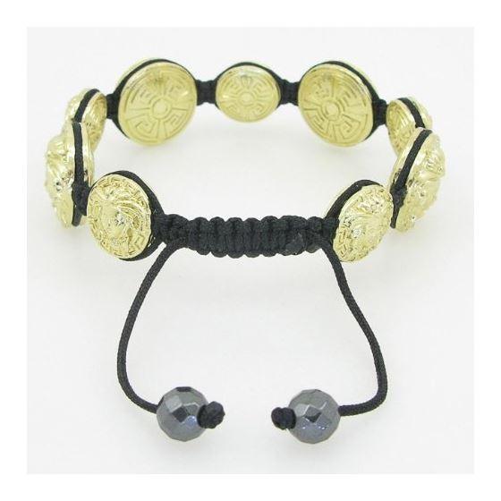 Yellow Greek style medusa string bracelet beaded macrame jewelry fashion bead 4