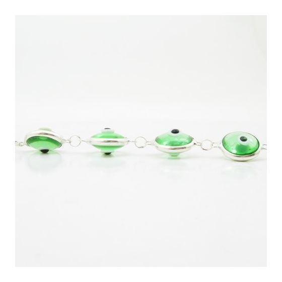 Womens Sterling silver Green evil eye br 84427 4