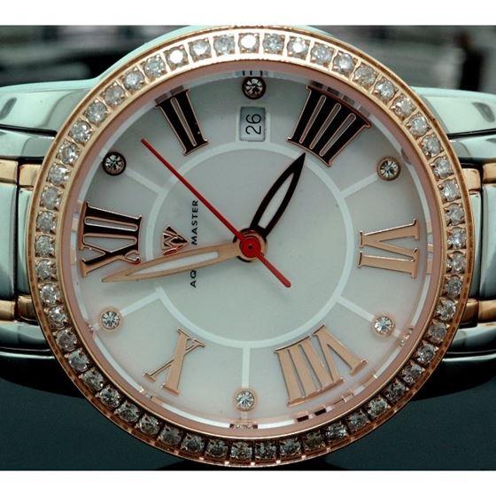 Ladies Classic Diamond Aqua Master Watch 55798 2