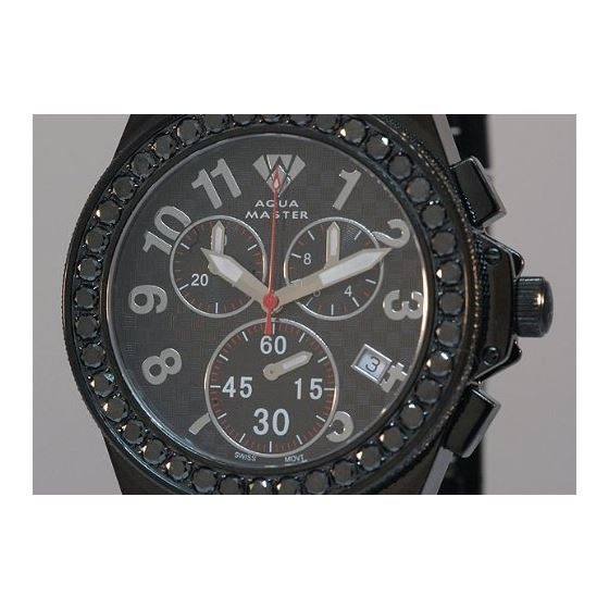 Black Diamond Men's Diamond Watch-2