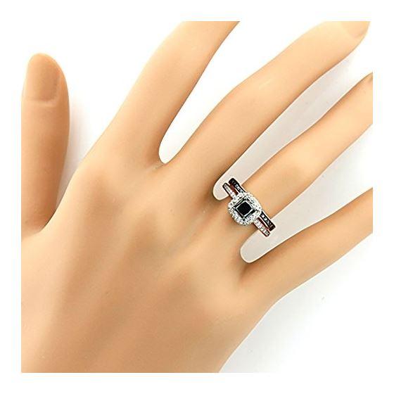 10K White Black 1.2 Ctw Diamonds Unique Bridal E-4