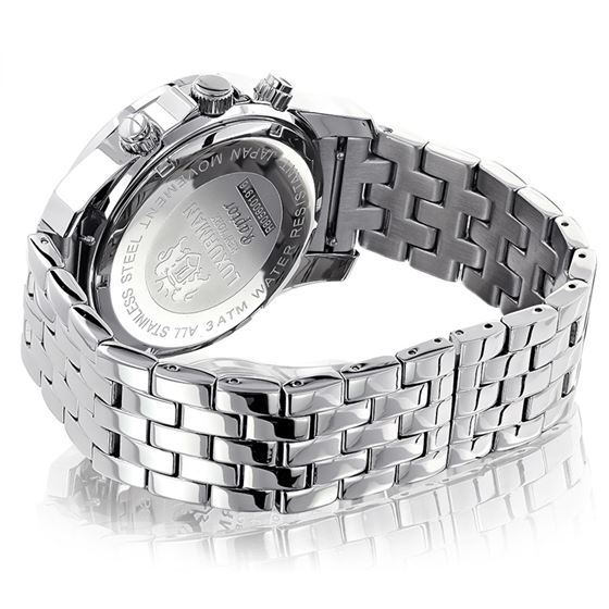 LUXURMAN MENS REAL DIAMOND WATCH 0.25CT 50 2