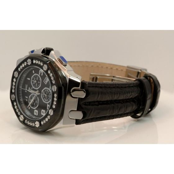 Aqua Master Royal Oak Mens Diamond Watch 1.50ctw W3259 2