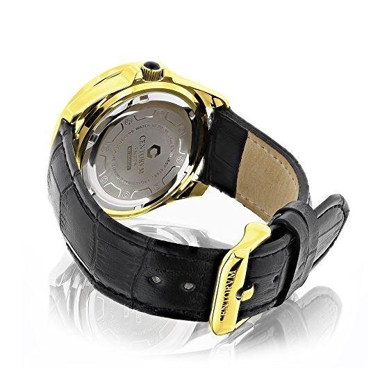 18K Gold Plated Watch With Diamonds 0.5Ct Midsiz-2
