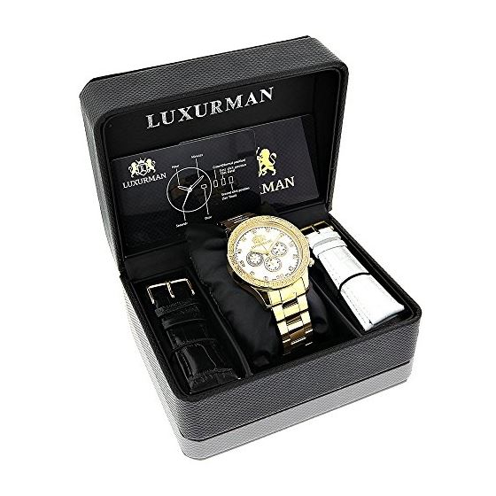 Luxurman Diamond Watches for Men 0.2ct Y 90145 4