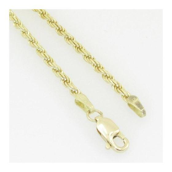 10K Yellow Gold rope chain GC1 4