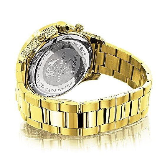 Large Diamond Bezel Watch By 2.3Ctw Of Diamonds-2