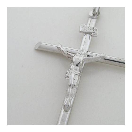 Jesus cut crucifix cross pendant SB37 48mm tall and 29mm wide 2