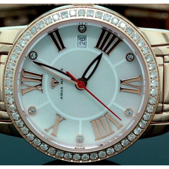 Ladies Classic Diamond Aqua Master Watch 55796 2