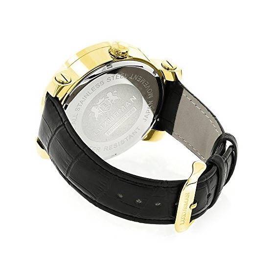 LUXURMAN Watches Worldface Mens VS Diamond Watch-2