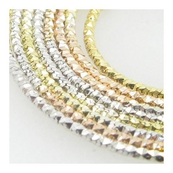 Ladies  925 Italian Sterling Silver Tri Color Snake Link Chain Length - 18  inches Width - 1mm