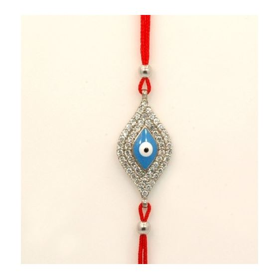 """Celebrity Designer Evil Eye Sterling Silver Bracelet on Kaballah String EE06"