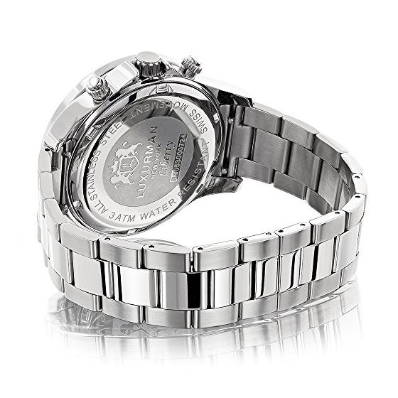 Mens Real Diamond Watch by Luxurman Libe 90907 2