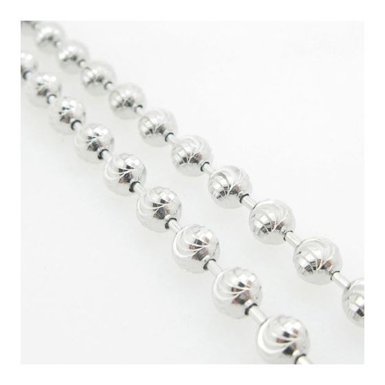Mens .925 Italian Sterling Silver Moon Cut Link Chain Length - 36 inches Width - 5mm 4