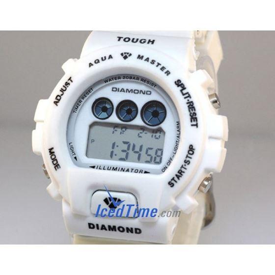 Aqua Master Shock Digital Watch White 2