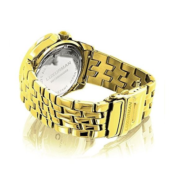 Luxurman Yellow Gold Plated Ladies Real  91126 2