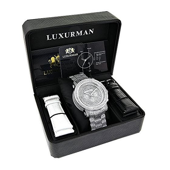 Mens Luxurman Iced Out Large Real Diamon 89785 4