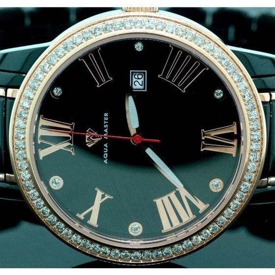 Aqua Master Mens Classic Diamond Watch W 55802 2