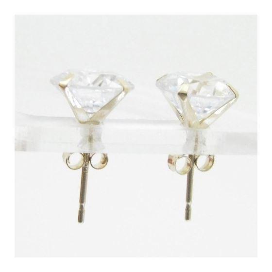 Unisex 14K solid gold earrings fancy stud hoop huggie ball fashion dangle swag 2
