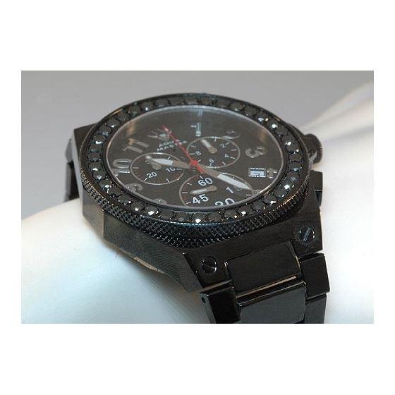 Black Diamond Men's Diamond Watch-4