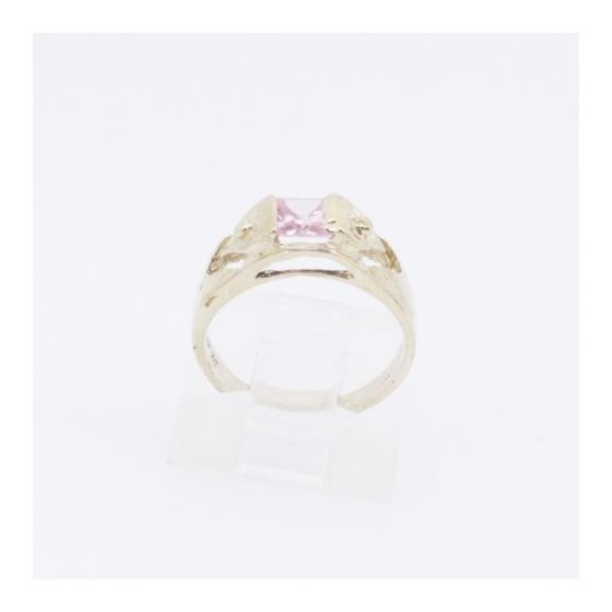 10k Yellow Gold Syntetic pink gemstone ring ajr23 Size: 3.25 2