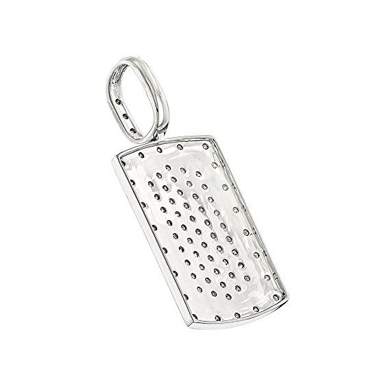"""""""Small Dog Tag Pendant with Diamonds Sterling Silver (0.5 Ctw"""