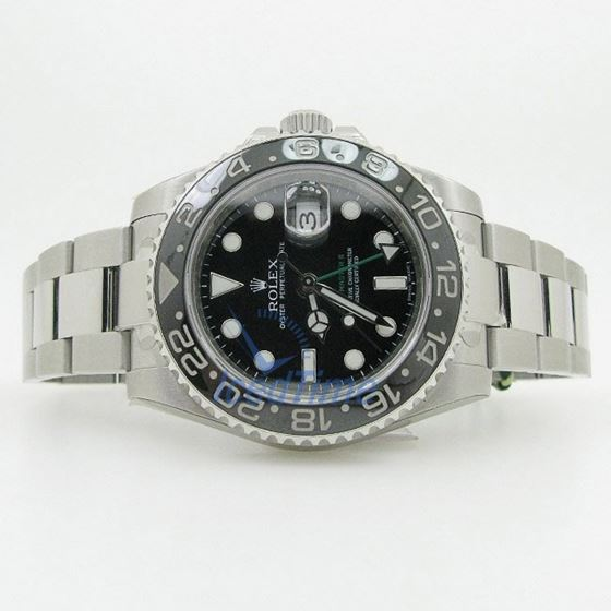 Rolex GMT Master II Black Index Dial Oyster Bracelet Stainless Steel Mens Watch 4