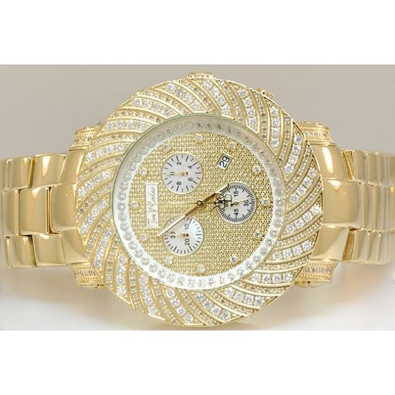 Joe Rodeo Watches: Mens Junior Diamond Watch 4.25 Yellow Gold 2