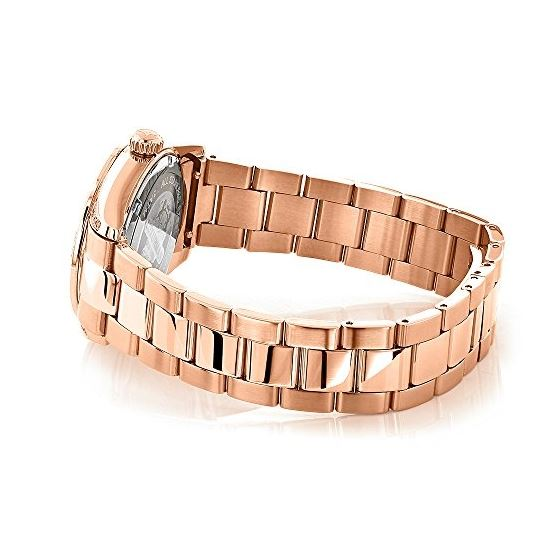 Rose Gold Plated Real Diamond Watch For Women 1.-2