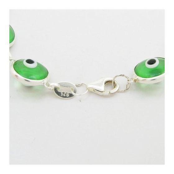 Womens Sterling silver Green evil eye br 84425 2