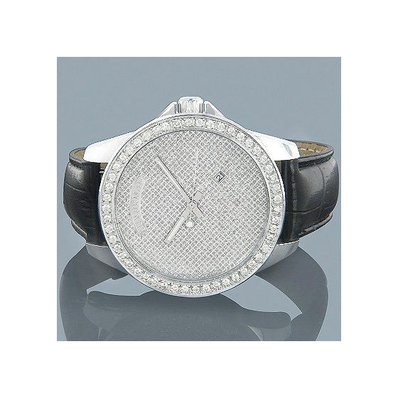 Iced Out Watches: Mens Diamond Watch 2Ct-4