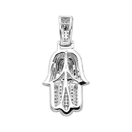 Jewish Jewelry: Small 14K Gold Diamond Hamsa Han-2